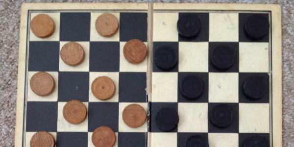 childhood games, draughts