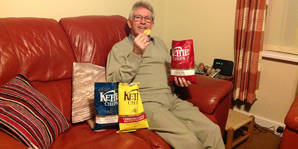 Derek and Kettle chips
